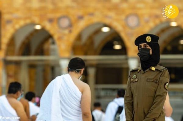 (ویدئو) مشارکت ماموران زن عربستانی در تامین امنیت حج